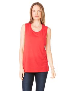 Red Ladies' Flowy Scoop Muscle Tank
