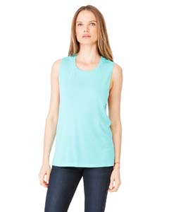 Teal Ladies' Flowy Scoop Muscle Tank