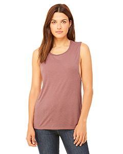 Mauve Ladies' Flowy Scoop Muscle Tank