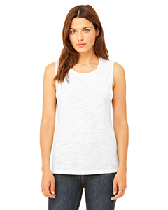 Natural Slub Ladies' Flowy Scoop Muscle Tank