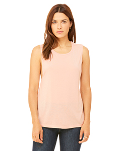 Peach Ladies' Flowy Scoop Muscle Tank