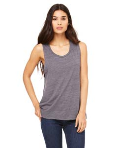 Asphalt Slub Ladies' Flowy Scoop Muscle Tank