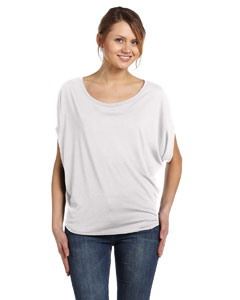 White Women's Flowy Circle Top
