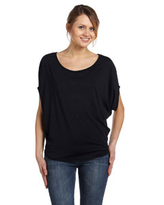 Black Women's Flowy Circle Top