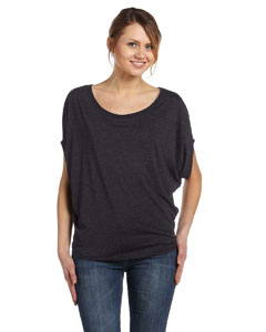 Dark Grey Heather Women's Flowy Circle Top