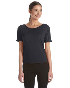 Dark Grey Heather Women's Flowy Open Back T-Shirt