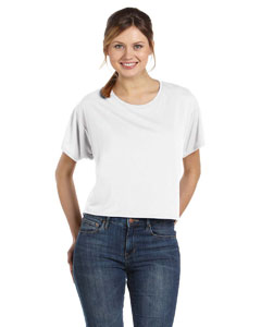 White Women's Flowy Boxy T-Shirt