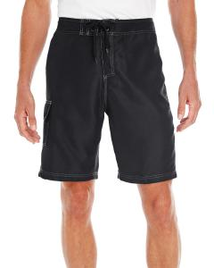 Black Men's Solid Board Short