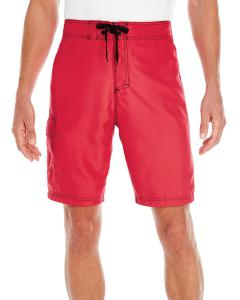 Red Men's Solid Board Short