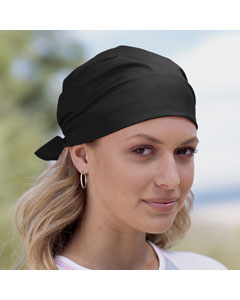 Black Solid Bandana