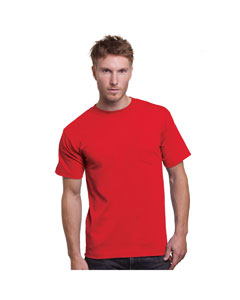 Red Adult Union Made Pocket Tee