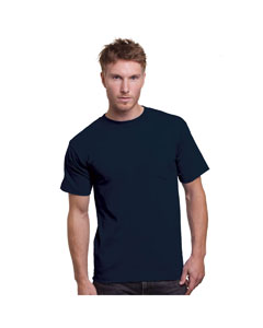 Navy Adult Union Made Pocket Tee