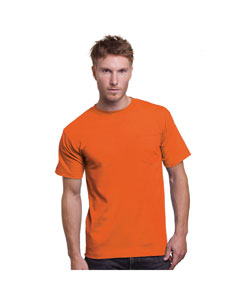 Bright Orange Adult Union Made Pocket Tee