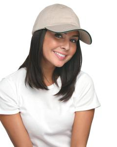Tan/ Dark Green 100 Washed Cotton Unstructured Sandwich Cap