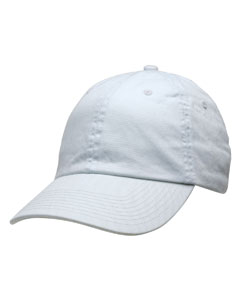 White Unstructured Washed Twill Cap