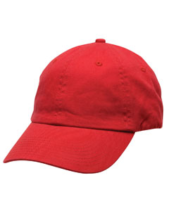 Red Unstructured Washed Twill Cap