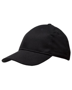 Black Structured Twill Cap