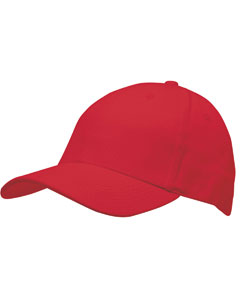 Red Structured Twill Cap
