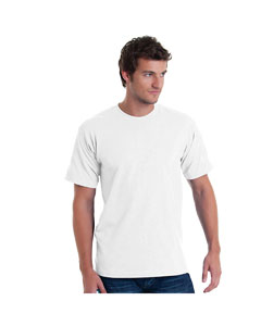 White Adult Basic Tee