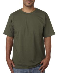 Olive Adult 5.4 oz. 100% Cotton T-Shirt