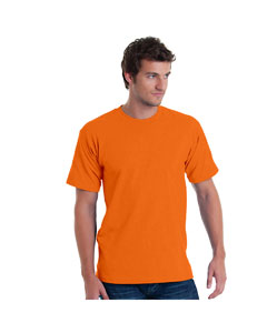 Bright Orange Adult 5.4 oz. 100% Cotton T-Shirt