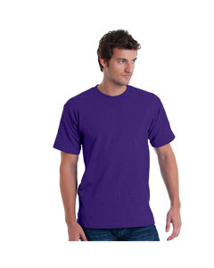 Purple Adult 5.4 oz. 100% Cotton T-Shirt