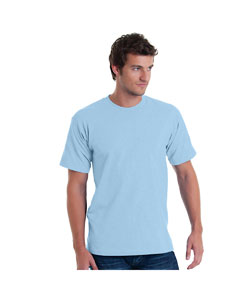 Lt Blue Adult 5.4 oz. 100% Cotton T-Shirt