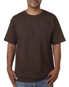 Chocolate Adult 5.4 oz. 100% Cotton T-Shirt