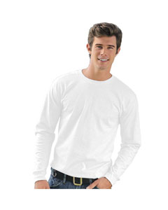 White Adult Long-Sleeve T-Shirt
