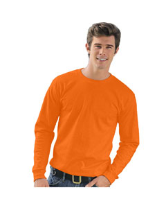Bright Orange Adult Long-Sleeve T-Shirt