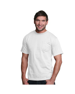 White Adult Pocket Tee