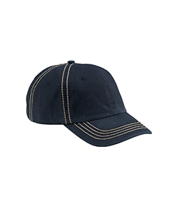 Navy/khaki Contrast Thick Stitch Unstructured Cap