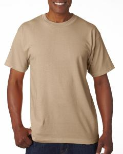 Sand Adult 6.1 oz. 100% Cotton T-Shirt