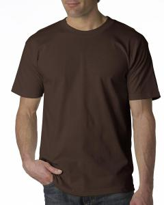 Chocolate Adult 6.1 oz. 100% Cotton T-Shirt