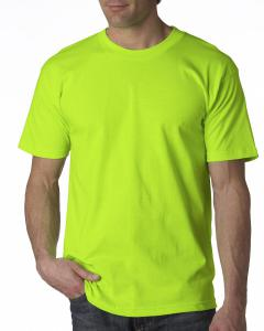 Lime Green Adult 6.1 oz. 100% Cotton T-Shirt