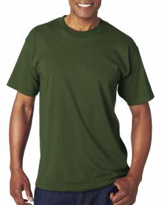 Forest Green Adult 6.1 oz., 100 Cotton T-Shirt