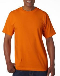 Bright Orange Adult 6.1 oz., 100 Cotton T-Shirt