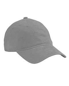 Grey Heavy Brushed Twill Unstructured Cap