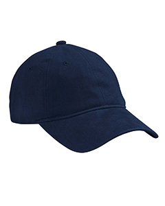 Navy Heavy Brushed Twill Unstructured Cap