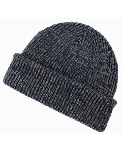 Navy/ Gray Ribbed Marled Beanie