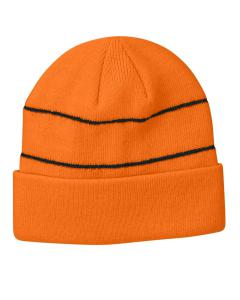 Neon Orange Reflective Beanie