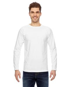 White Adult 6.1 oz., 100 Cotton Long Sleeve T-Shirt