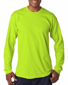 Lime Green Adult 6.1 oz., 100 Cotton Long Sleeve T-Shirt
