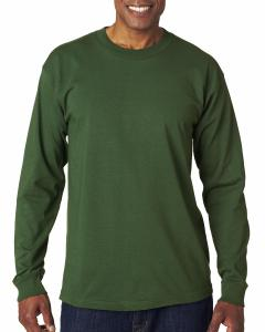 Forest Green Adult 6.1 oz., 100 Cotton Long Sleeve T-Shirt