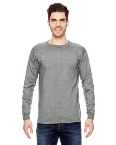 Dark Ash Adult 6.1 oz., 100 Cotton Long Sleeve T-Shirt