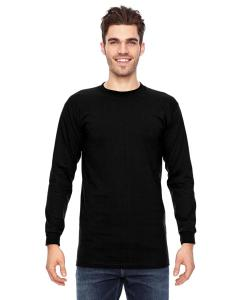 Black Adult 6.1 oz., 100 Cotton Long Sleeve T-Shirt