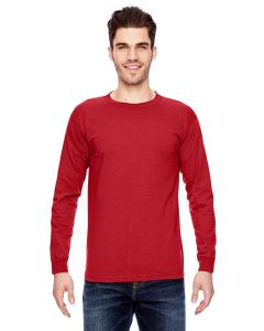 Red Adult 6.1 oz., 100 Cotton Long Sleeve T-Shirt