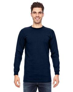 Navy Adult 6.1 oz., 100 Cotton Long Sleeve T-Shirt