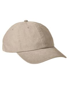 Khaki Heavy Washed Canvas Cap