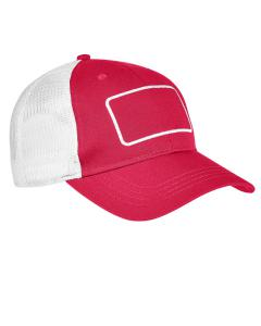 Red/ White/ Wht Patch Trucker Cap